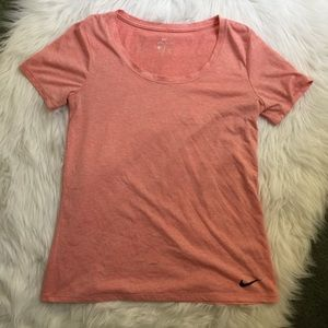 Nike pink short sleeve top